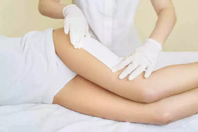 Waxing with strips